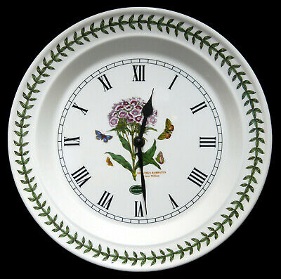 Portmeirion Botanic Garden Wall Clock : Sweet William - Excellent • 8.99£