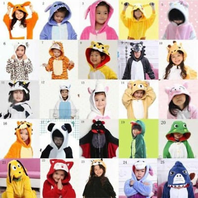 AU23.99 • Buy Animal Costume Children Kid Unisex Onesie11 Pajamas Kigurumi Sleepwear Outfit *1