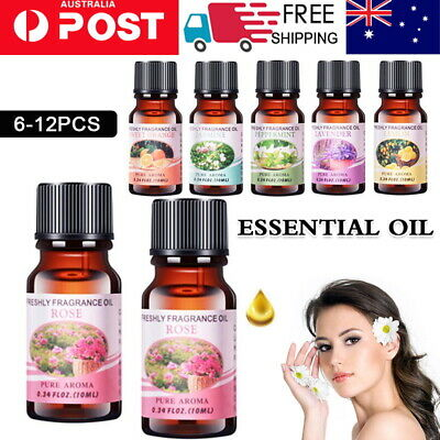 AU16.99 • Buy 6/12x Essential Oils 100% Pure & Natural Aromatherapy Diffuser Essential Oil Set
