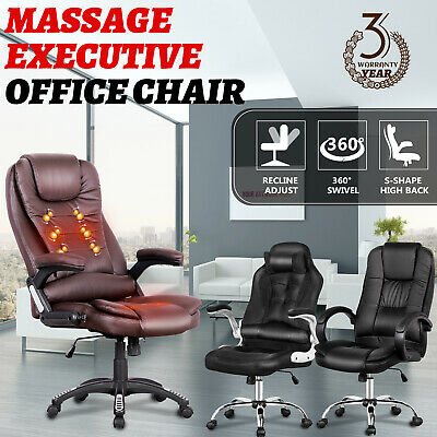 AU149.90 • Buy High Back Executive Massage Gaming Racing Office Computer Chair PU Leather Seat
