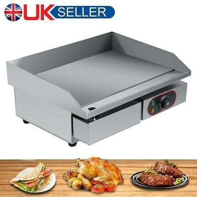 3000W Commercial Electric Griddle Hotplate Flat Grill Hot Plate Large Countertop • 64.69£