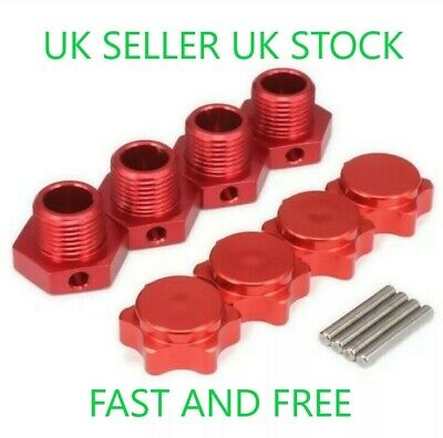 😀1/8 Scale Rc Buggy 17mm Hex Hub Hobao Alloy Wheel Adapter Nut Pin Hpi X4😀 • 9.99£