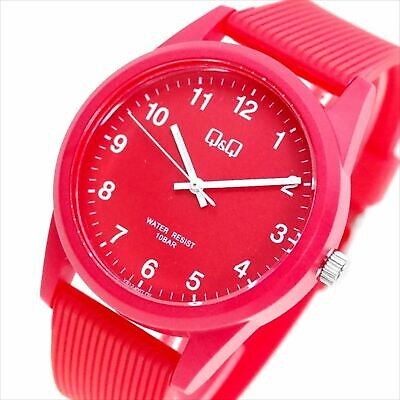 $ CDN96.20 • Buy Citizen QQ Limited Analog Watch RED Rubber Band Waterproof VS40-007 Ladies NEW