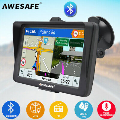 AU83.99 • Buy 7 AWESAFE Bluetooth GPS Navigator For Car Truck Sat Nav And Sunshade AU Map