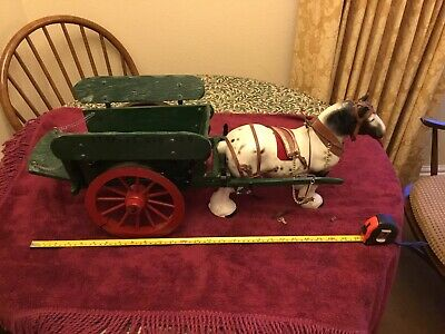 Vintage Ceramic Shire Horse And Tilting Cart Table Display • 19.99£