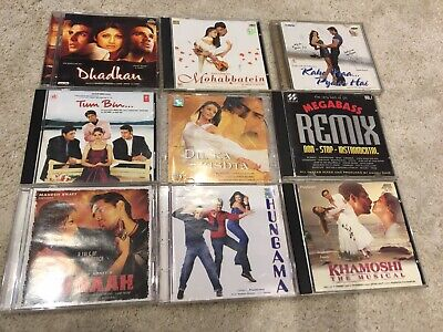 9 X Vintage Hindi Bollywood CD Albums - USED • 40£