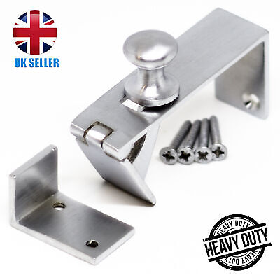 Satin CHROME Counter Flap Hinge QUALITY Silver Bar/Shop/Table Catch + Screws UK • 8.49£