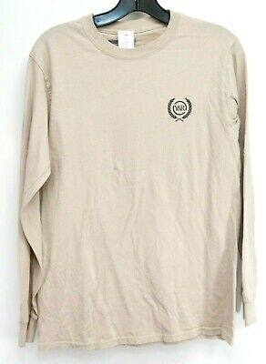 Pacsun X Young & Reckless Mens L/S Beige Logo Athletic Skate Tee T-Shirt Small • 30.73£