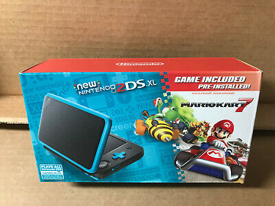 AU303.94 • Buy Nintendo 2DS XL Handheld Console + Mario Kart 7 Preinstalled Black Turquoise NEW