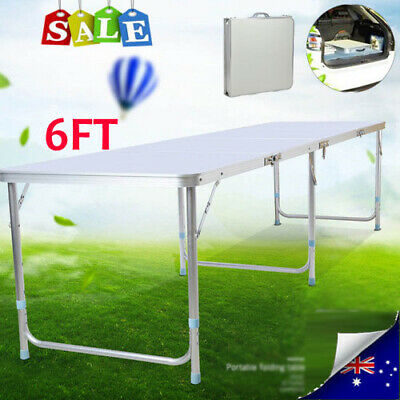 6FT Folding Camping Table Aluminium Picnic Portable Adjustable Party BBQ Outdoor • 30.99£