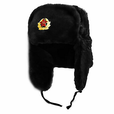 Russian Soviet Army Style USSR Badge Military Fur Soldiers  Headwear (58-60cm) • 12.99£