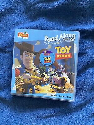 TOY STORY READ ALONG STORY BOOK And CASSETTE TAPE By WALT DISNEY RECORDS • 4.99£