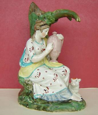 Staffordshire Pearlware Figure Lady With Urn C1820 • 50£