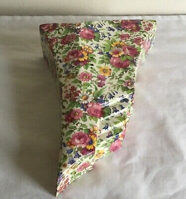 "$ CDN17.04 • Buy Vintage Art Deco Royal Winton Chintz  Summertime"" Flowers Large Wall Pocket"