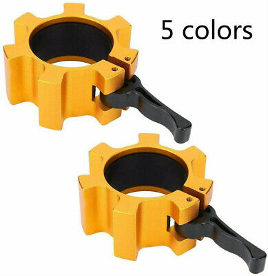 $ CDN31.62 • Buy 2x Olympic Dumbbell Barbell Bar Lock 1  Weight Clamps Collars Gym Training 2in