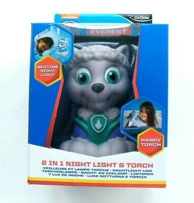 Paw Patrol Everest GoGlow 2 In 1 Night Light And Torch Child Safe For Age 12M + • 10.99£