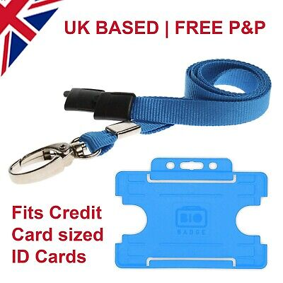 NHS Coloured Blue Lanyard WITH BREAKAWAY AND CARD HOLDER • 2.19£