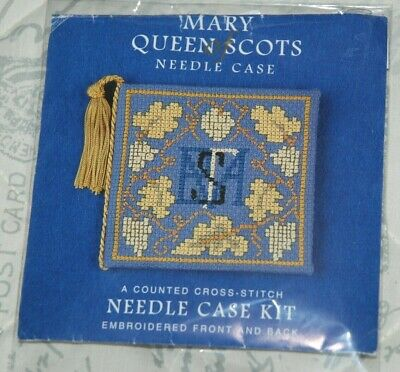 Mary Queen Of Scots Needle Case Cross Stitch Kit, Embroidered Front & Back • 4.99£