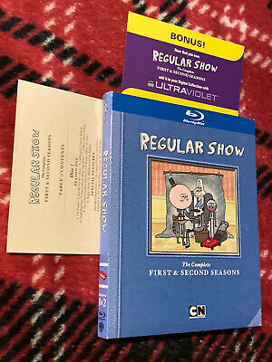£282.09 • Buy RARE Regular Show COMPLETE First & Second Seasons Blu-Ray With Slipcover Inserts