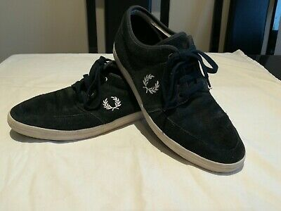 Fred Perry Navy Suede Casual Shoes • 7.99£