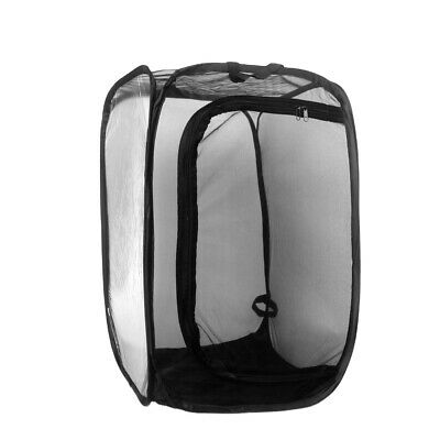 AU34.98 • Buy Abu I Pet Collapsible Insect And Butterfly Habitat Mesh Cage Terrarium - Black