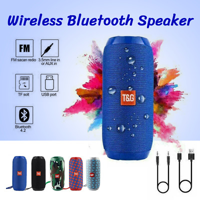 AU22.40 • Buy Bluetooth Wireless Rechargeable Stereo Speaker HIFI Portable USB/TF/AUX Outdoor