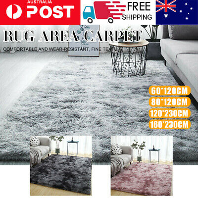 AU33.81 • Buy Rectangle Shaggy Carpet Bedroom Living Room Floor Pads Soft Fluffy Area Rugs Mat