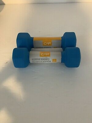 $ CDN21.08 • Buy CAP Barbell 2 LB Neoprene Coated Hex Dumbbell 2LBS 2x Blue 4 LB Set New Fitness