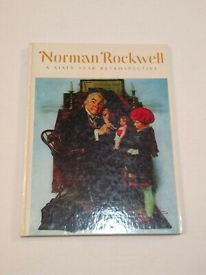 $ CDN13.12 • Buy VTG Coffee Table Book AMERICA Sixty Year Retrospective Norman Rockwell EUC 1972