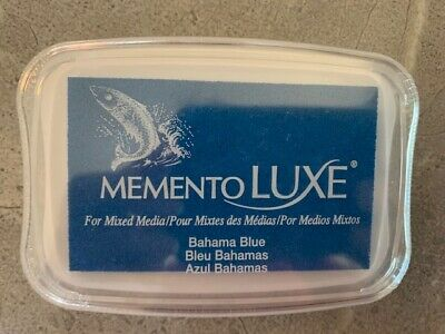 Tsukineko Memento Luxe Bahama Blue Ink Pad, Factory Sealed, Fast-drying Pigment • 2.79£