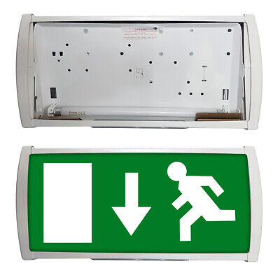 Emergency Exit Light Fitting 3HR Maintained Fire Escape Wall Mounted Above Door • 14.99£