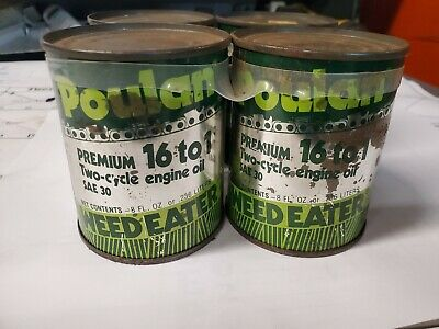 $ CDN7.51 • Buy Vintage Poulan Weed Eater 4-8 Ounce 2-Cycle Engine Oil Cans