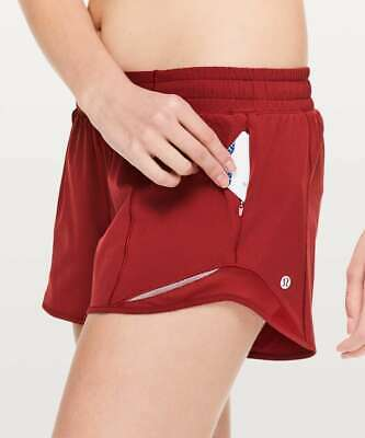 $ CDN89.38 • Buy NWT - Lululemon Hotty Hot Short II *Long 4  Dark Sport Red | SIZE: 12
