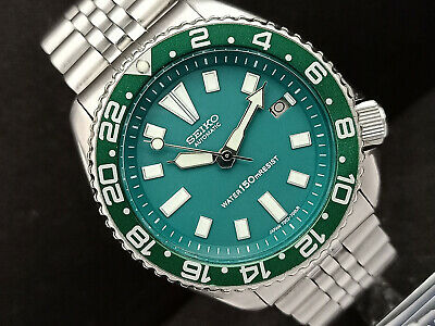 $ CDN87 • Buy Seiko Diver 7002-7000 Green Face Mod Automatic Mens Watch 9n0781