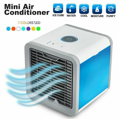 AU22.50 • Buy New USB Rechargeable Fan Cooling Mini Air Conditioner Portable Desktop Cooler