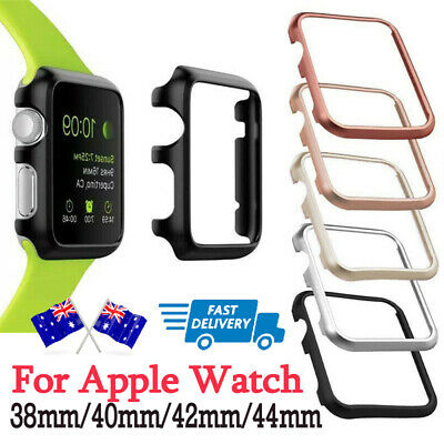 AU4.69 • Buy Aluminum Watch Case For Apple Watch Band 40mm 44mm 38mm/42mm Iwatch