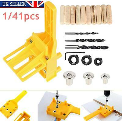 Woodworking Doweling Jig Drill Guide Wood Dowel Drill Hole Tool 6 8 10mm Kit • 11.99£