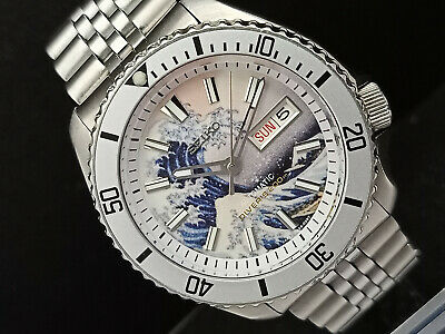 $ CDN90.96 • Buy Seiko Diver 7s26-0020 Skx007 The Great Wave Of Kanagawa Automatic Watch 970323