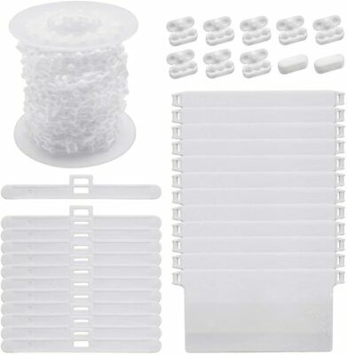 Vertical Blind Accessories 12 Pcs 89mm Bottom Weights Slats Chain And Connector • 21.59£