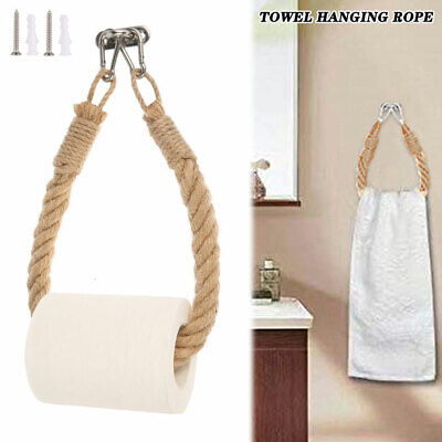 AU13.99 • Buy AU Vintage Hook Mounted Toilet Paper Roll Holder Bathroom Wall Storage Modern