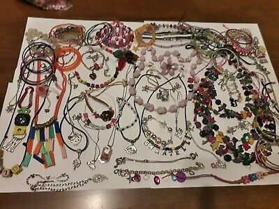 Vintage Modern Jewellery Joblot Bundle Collection 28 Kitsch Girls Kids • 1.76£