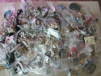 $ CDN21.75 • Buy Vintage To Modern Jewelry Box Lot 300 Pcs-14 LB, Necklaces & More, Unsearched