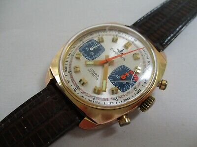 $ CDN202.34 • Buy Mens Vintage 1960's Dugena Watch 17 Rubis Incabloc Chronograph Watch Runs Great
