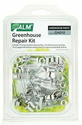 Greenhouse Repair Kit W Glazing Clips Z Clips Cropped & Square Head Bolts ALM • 5.99£