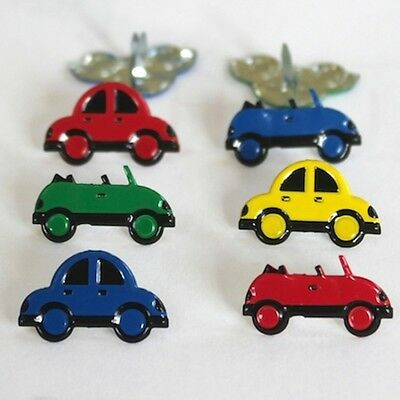 $2.25 • Buy ** New **  Car Brads   ** 4 Colors, 8 Pcs, 2 Designs  **  Eyelet Outlet