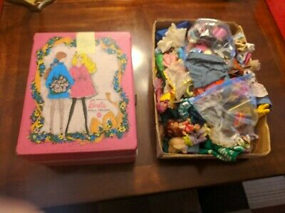 $ CDN62.63 • Buy Huge Vintage Barbie Lot • 1960s 1970s Clothes & Accessories Doll Case Doll
