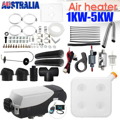 AU207.99 • Buy 12V 2KW-5KW Diesel Air Heater Tank Remote Control Thermostat Caravan RV Silencer