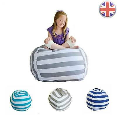 EXTRA LARGE Stuffed Animal Toy Storage Bean Bag Bean Cover Soft Seat L • 6.49£