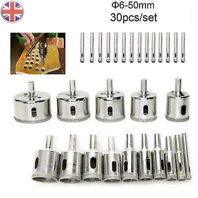 30pcs Diamond Cutter Coated Core Hole Saw Set Holes Saw Drill Bit Tile FOR Glass • 7.99£