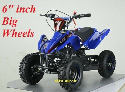 AU429 • Buy 49cc Starter Mini Quad Bike 6  Wheel Buggy Kids 4 Wheeler Pocket Dirt Ride On